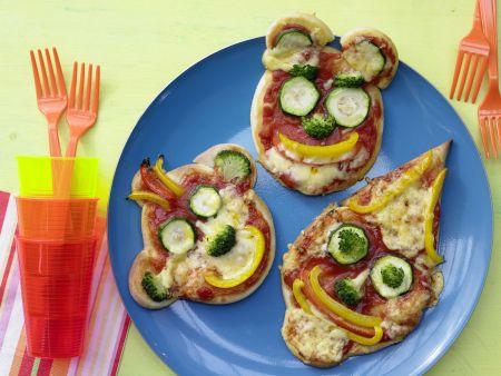 Pizza-Gesichter