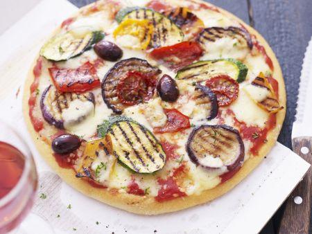 Pizza mit Grillgemüse