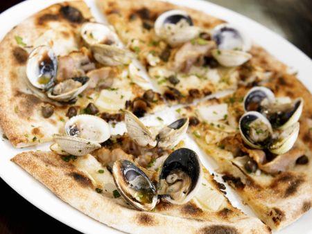 Pizza mit Muscheln
