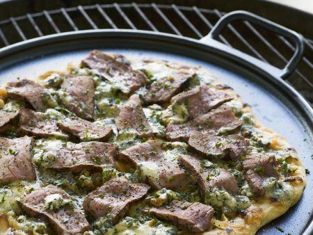 Pizza mit Rinderfilet