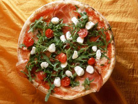 Pizza mit Rucola