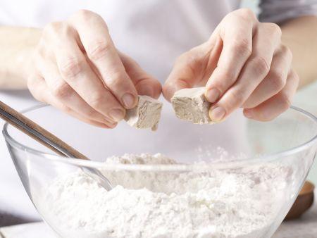 Pizza Primavera: Zubereitungsschritt 1