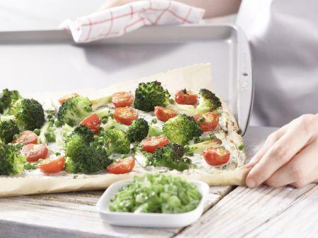 Pizza Primavera: Zubereitungsschritt 8