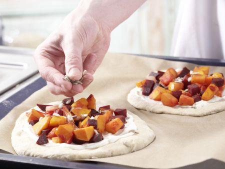Pizza mit Roter Bete: Zubereitungsschritt 10