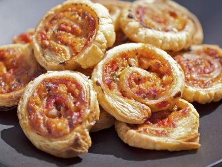Pizza-Schnecken mit Gemüse