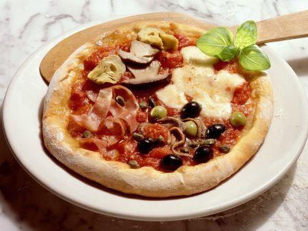 Pizza vier Jahreszeiten (Quattro Stagioni)
