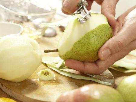 Pochierte Birnen: Zubereitungsschritt 3