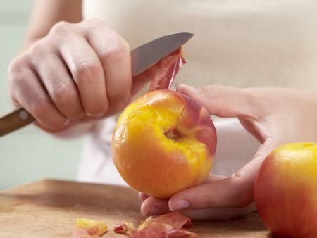 Pochierte Pfirsiche: Zubereitungsschritt 5