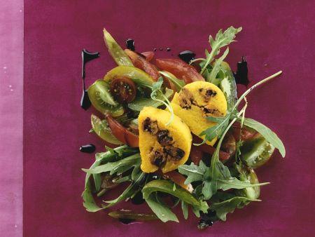 Poentascheiben mit Salat