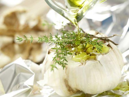 Polenta mit gebackenem Knoblauch: Zubereitungsschritt 2