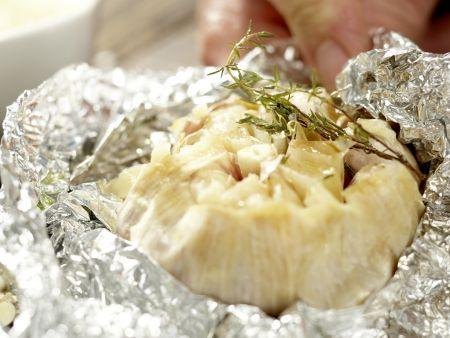 Polenta mit gebackenem Knoblauch: Zubereitungsschritt 3