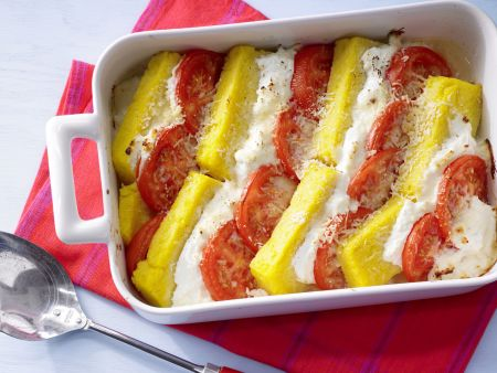 Rezept: Polenta-Käse-Auflauf