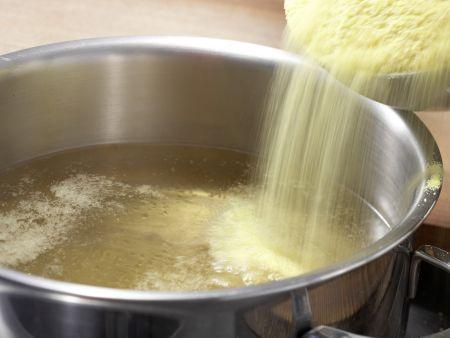 Polenta-Käse-Auflauf: Zubereitungsschritt 1