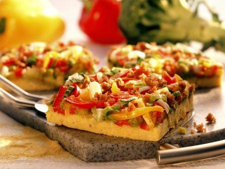Rezept: Polenta-Paprika-Pizza