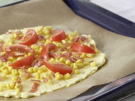 Polenta-Pizza: Zubereitungsschritt 5