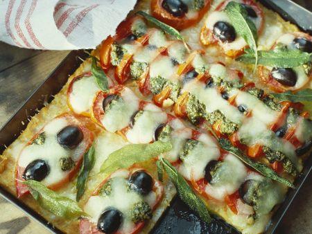 Polentagratin mit Gemüse und Käse
