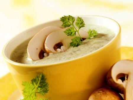 Porree-Champignon-Suppe