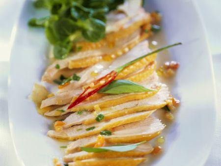 Poulardensalat mit Kokosmilch-Vinaigrette