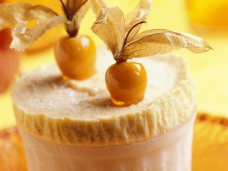 Pudding mit Physalis