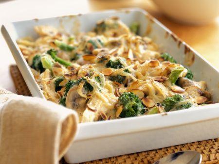 Puten-Brokkoli-Gratin mit Mandeln