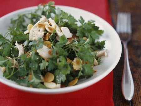 Puten-Petersilien-Salat mit Mandelblättchen