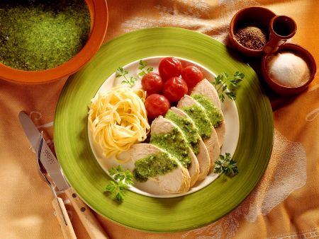 Putenbraten mit Pesto