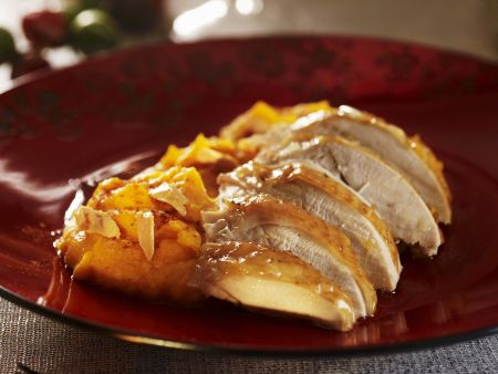 Putenbrust mit Süßkartoffelbrei