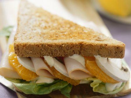 Putenbrust-Orangen-Sandwich