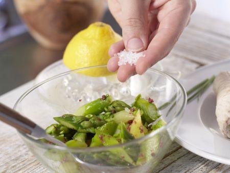 Putenroulade auf Spargelsalat: Zubereitungsschritt 9