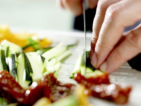 Putenschnitzel mit Lachsschinken: Zubereitungsschritt 1