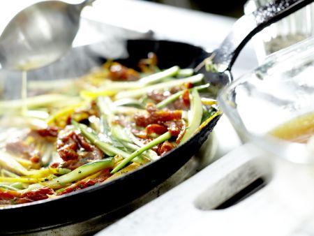 Putenschnitzel mit Lachsschinken: Zubereitungsschritt 10