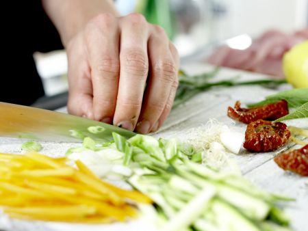 Putenschnitzel mit Lachsschinken: Zubereitungsschritt 2