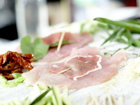 Putenschnitzel mit Lachsschinken: Zubereitungsschritt 5