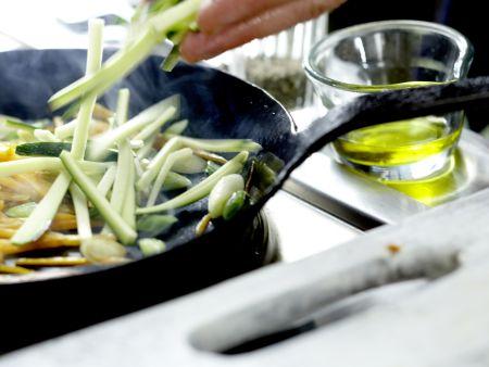 Putenschnitzel mit Lachsschinken: Zubereitungsschritt 8