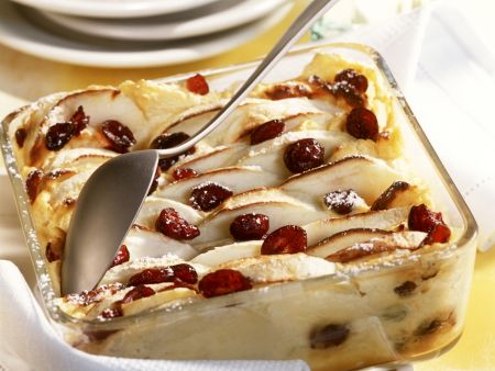 Quark-Apfel-Gratin mit Cranberries