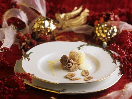 Quarkbällchen mit Maroni gefüllt