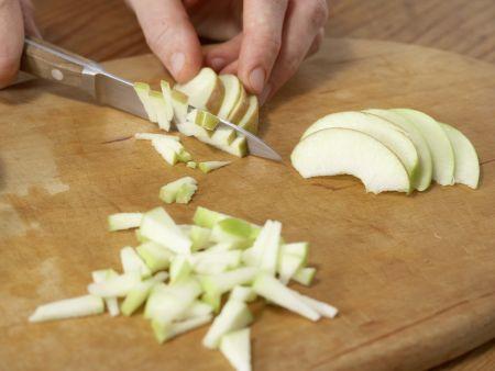 Quarkcreme mit Eis und Obst: Zubereitungsschritt 1