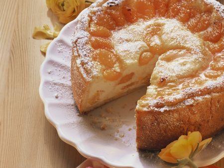 Quarkkuchen mit Mandarinen