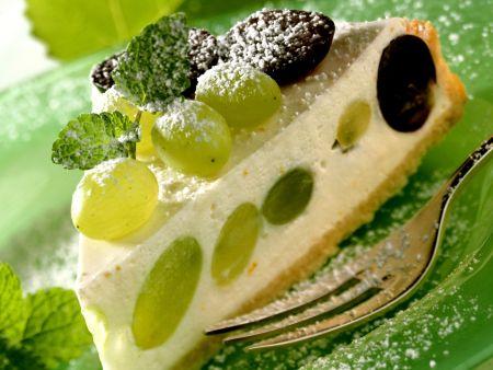 Rezept: Quarkkuchen mit Weintrauben