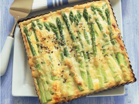 Rezept: Quiche mit Spargel und Ricotta