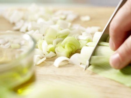 Quinoa mit Lauch: Zubereitungsschritt 1