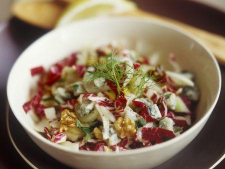 Radicchio-Fenchel-Salat mit Blauschimmelkäse