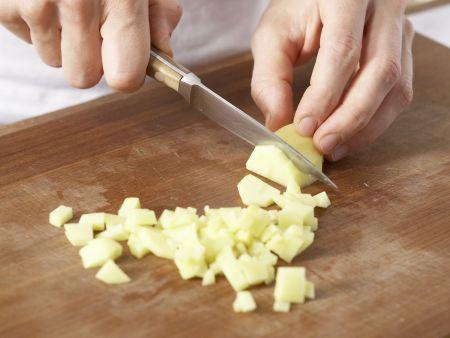 Radieschen-Kartoffel-Suppe: Zubereitungsschritt 3