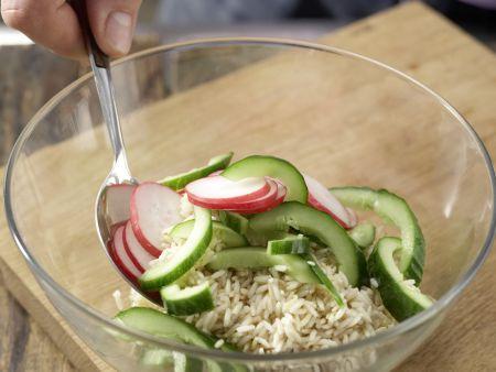 Radieschen-Reis-Salat: Zubereitungsschritt 7