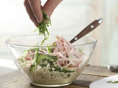 Radieschen-Reis-Salat: Zubereitungsschritt 9