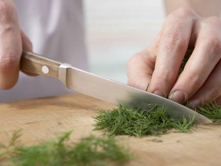 Räucherlachs-Käse-Creme: Zubereitungsschritt 1