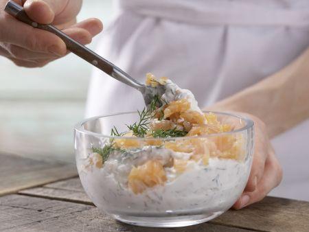 Копченый лосось и Приготовление сливочного сыра: Шаг 3