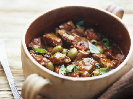 Ragout vom Kalb mit Oliven