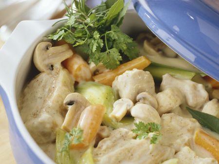 Ragout vom Kalb mit Pilzen und Gemüse