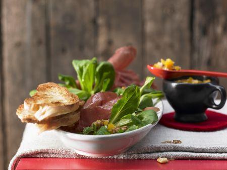 Rapunzel-Salat mit Bündnerfleisch